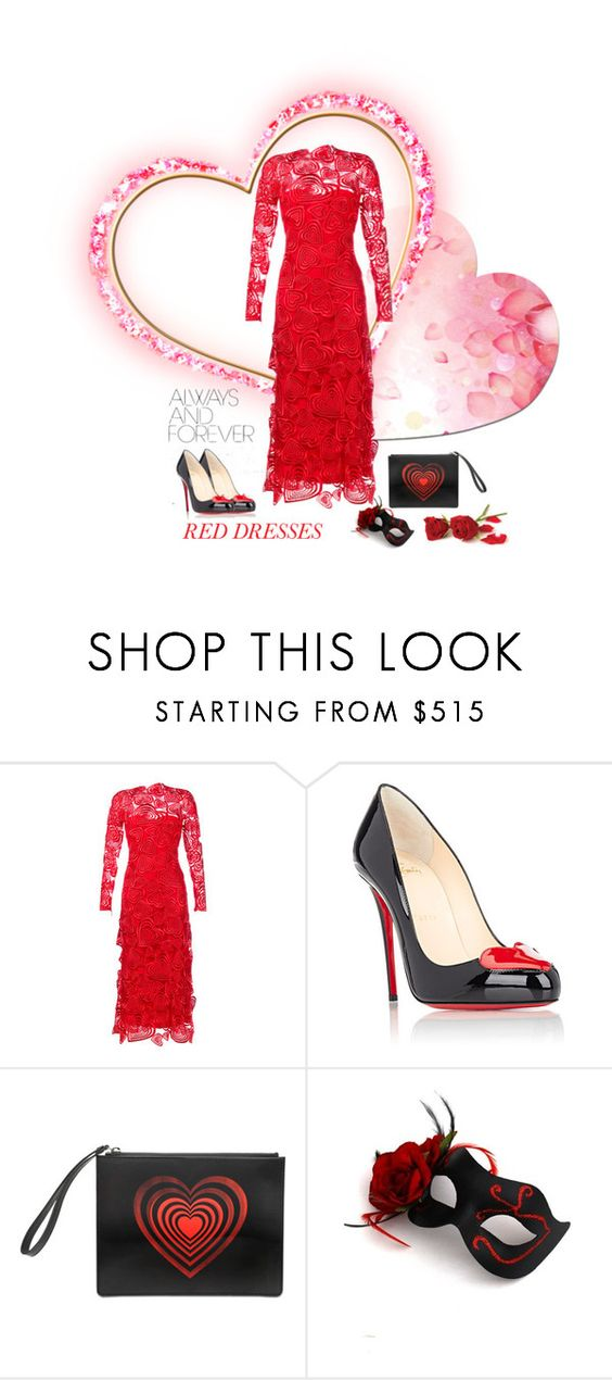 """""""Always and Forever"""" by joyce-williams ❤ liked on Polyvore featuring Christopher Kane, Christian Louboutin, women's clothing, women, female, woman, misses and juniors"""