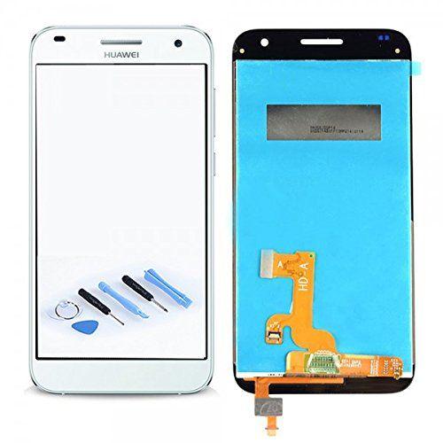 nice Pantalla LCD Unidad Completa para Huawei Ascend G7 Reparación De Blanco + Herramienta Opening Tool