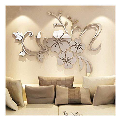 Yingyuan 1 Piece Set Acrylic Art 3d Mirror Flower Wall St