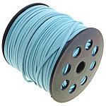 5 yards light blue faux suede cord 3mm wide by bailsnbeads on Etsy, $2.00