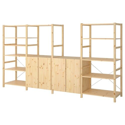 IVAR Shelving unit with shelvesrails – pine – IKEA in 2020