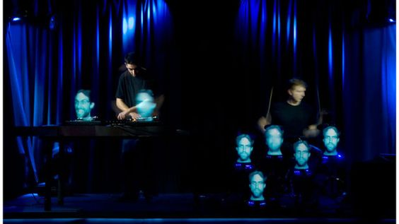 Neurosonics Live by Chris Cairns. Holographic Drumkit and Turntables test.