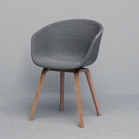 Can't decide the color/fabric.  About a Chair - Upholstered seat, legs in wood, by Hee Welling and HAY (En)