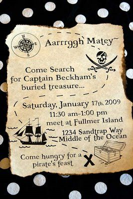 Printable party invite - just download and add text, then scorch