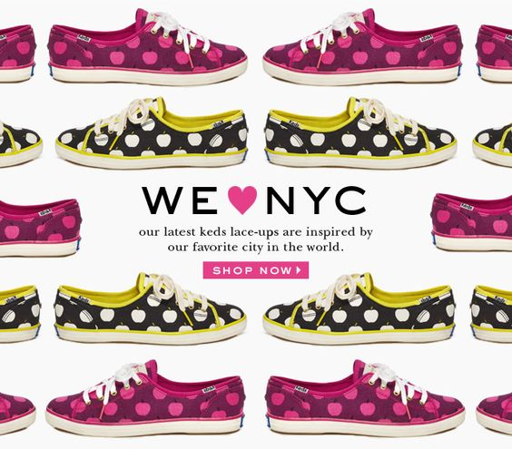we heart nyc. our latest keds lace ups are inspired by our favorite city in the world. shop now.