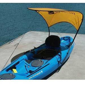 Windpaddle sails bimini sun shade kayak accessories mark for Kayak accessories fishing