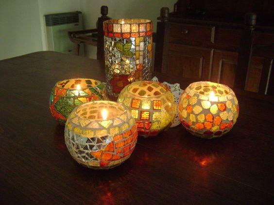 fanales de vidrio con venecitas tiempos de mosaiquismo