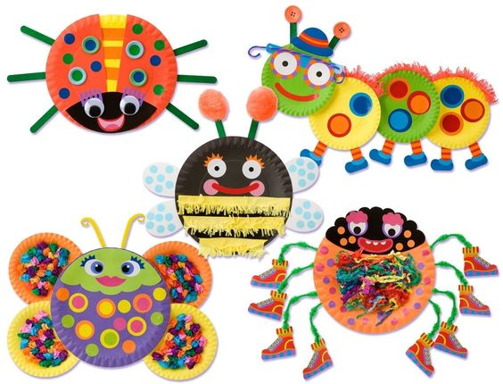 Little Hands Paper Plate Bugs by Alex Toys
