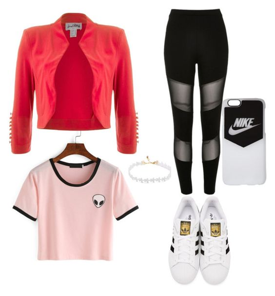 """""""outfit#1 :))"""" by bibirevi-br on Polyvore featuring River Island, adidas Originals, Joseph Ribkoff and NIKE"""