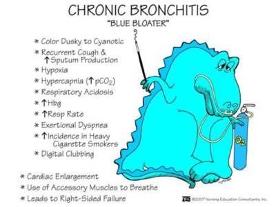 chronic bronchitis / blue bloater: