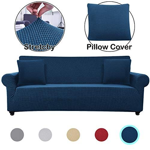 Lumibee Stretchable Oversized Sofa Slipcover 1 Piece With 2 Pillow