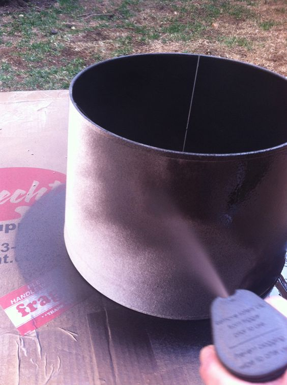 paint a lampshade with spray paint and then finish with Versatex screen printing paint.