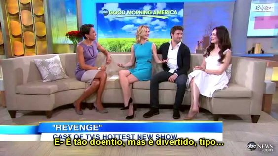 Elenco de Revenge no programa Good Morning America (2012)
