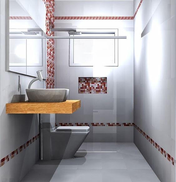 Inspiração décor de banheiros – pastilhas de vidro como revestimento  Casa  -> Revestimento Para Banheiro Com Pastilha De Vidro