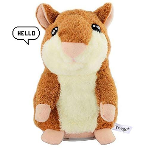 Yoego Cute Mimicry Pet Talking Hamster Repeats What You Say Plush