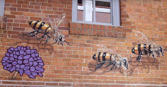 Matt peint 50 000 abeilles sur les murs du monde pour rappeler à quel point elles sont essentielles | Daily Geek Show