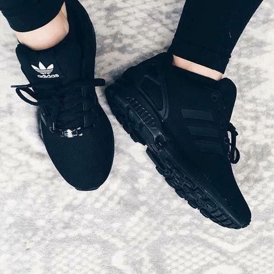 all black adidas sneakers womens