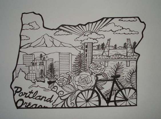 Oregon this is awesome and drawings on pinterest for Tattoo shops in portland oregon