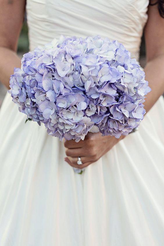 Purple Hydrangea Bouquet | Christina Karst Photography | Theknot.com