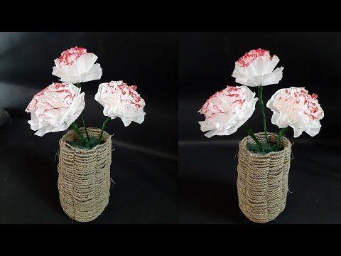 Diy Mebuat Bunga Mudah Dari Kertas Krep Youtube Bunga Kreatif Kertas