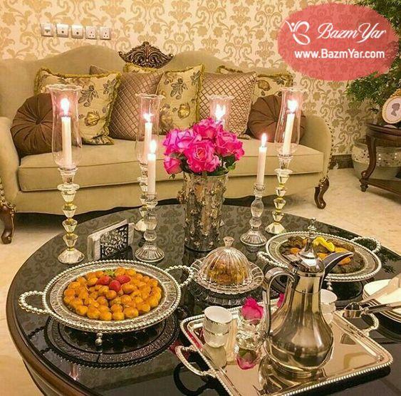 چیدمان میز افطار یا سحری ساده Eid Food Summer Table Decorations Food Goals