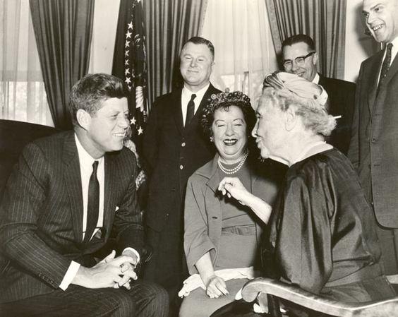 Helen Keller speaks to JFK: