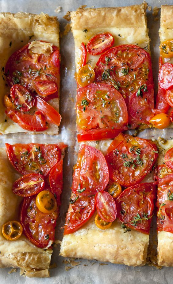 Simple Tomato Tart | Tomatoes are the essence of summer time, and for ...