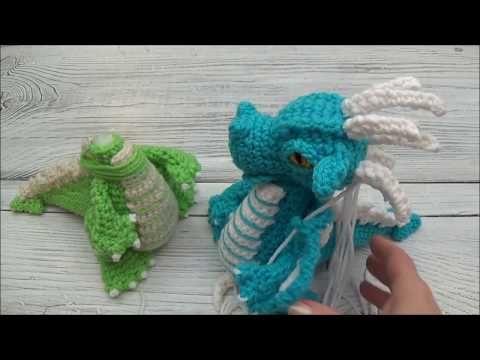 Amigurumi Crochet Mini Dragon Pattern by Little Bear Crochets | 360x480