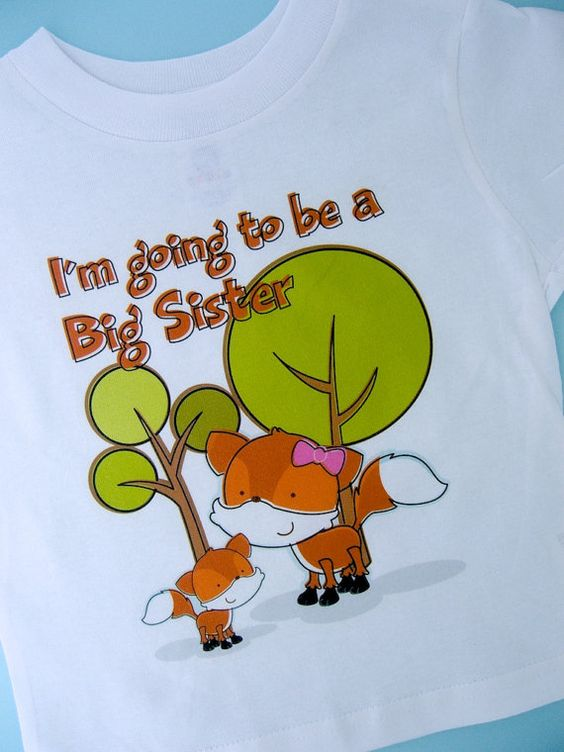 Fox Big Sister Shirt  Girl's Personalized I'm by ThingsVerySpecial