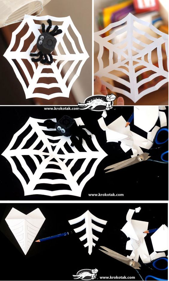 halloween diy kids crafts how to make a spiderweb craft. Black Bedroom Furniture Sets. Home Design Ideas