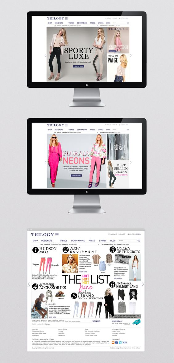 Trilogy Stores Ecommerce by Ge Song, via Behance