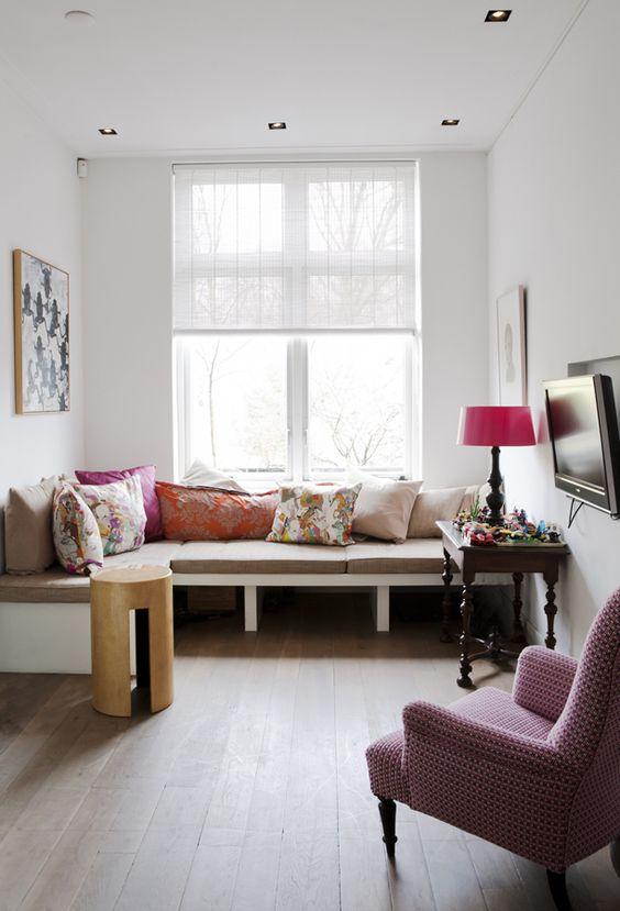 ... in woonkamer by Jaloezieenverkoop.nl - Rolgordijnen  Pinterest