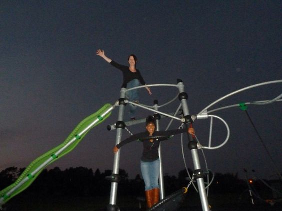 Fun at Peasedown St. John's park, with a great friend.... Gotta make it fun at all time hee hee!