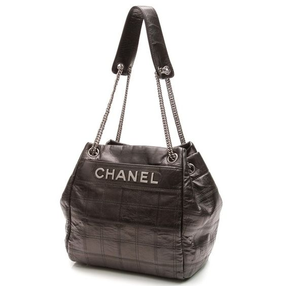 Pre-Owned Chanel Black Square Quilt Lambskin LAX Accordion Tote Bag ($1,250) ❤ liked on Polyvore featuring bags, handbags, tote bags, black, tote bag purse, chanel tote, chanel handbags, tote purse and square purse