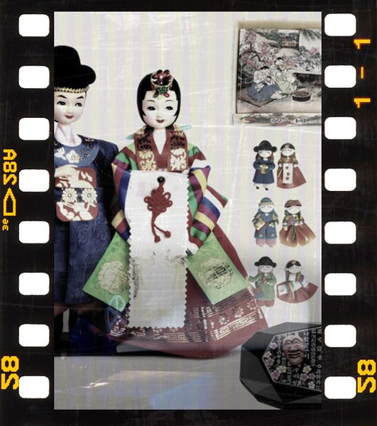 Korean Souvenirs Traditional Gifts Handicrafts Wedding Doll Mother Of Pearl Jewelry Box Fridge Coupl
