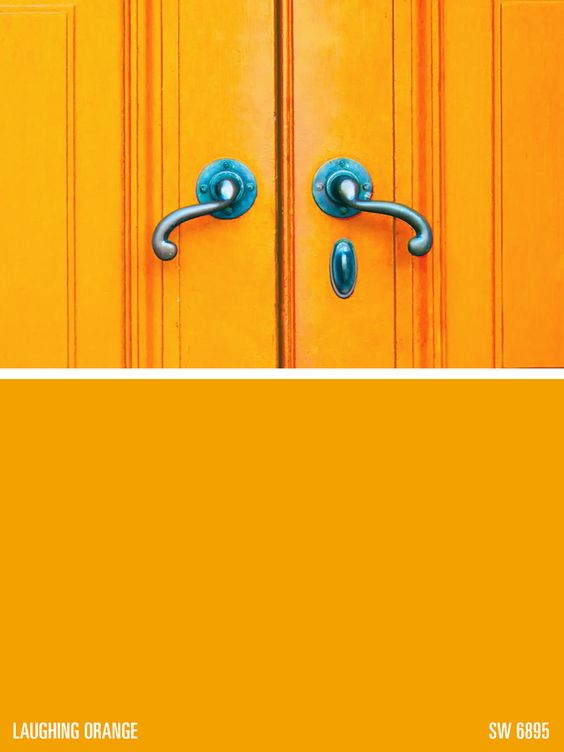 Sherwin Williams Paint Color Laughing Orange Sw 6895