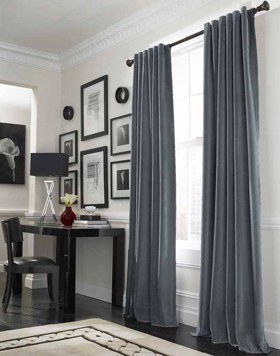Curtains Ideas curtain ideas for tall windows : Stunning Design Of Curtain Ideas For Large Windows : Cool Grey ...