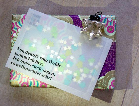 (Weihnachts-)karte aus Transparentpapier