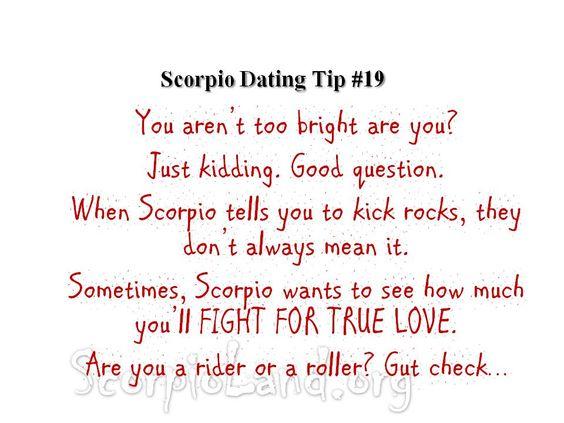 Scorpio dating tips #4