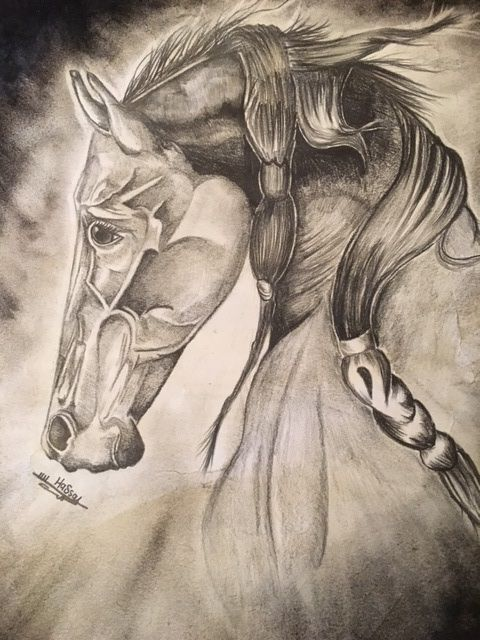 untitled, Hasan A., honorable mention, high school drawing, Texas Renaissance Festival School Days Art Competition, 2015