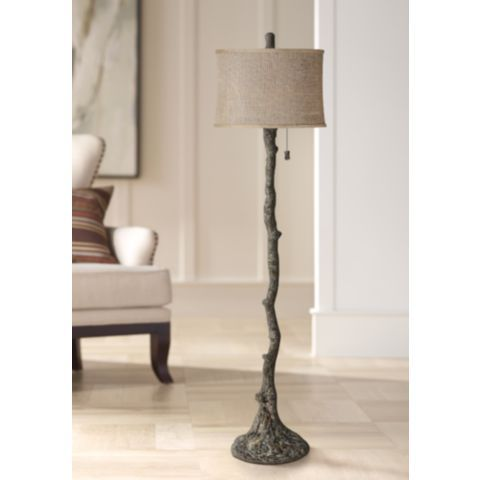 Wesley Bark Tree Branch Floor Lamp 8m826 Lamps Plus Lamp Inspiration Floor Lamp Tree Branch Decor
