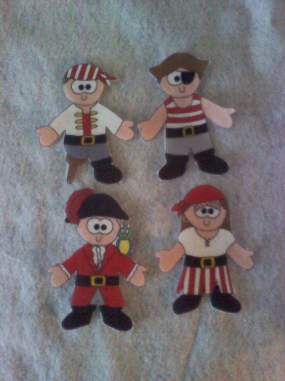 Pirate Paper or Cloth Dolls