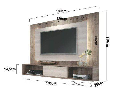 Mueble Panel Tv 32 A 50 Pulgadas Modular Rack 18mm Fabrica