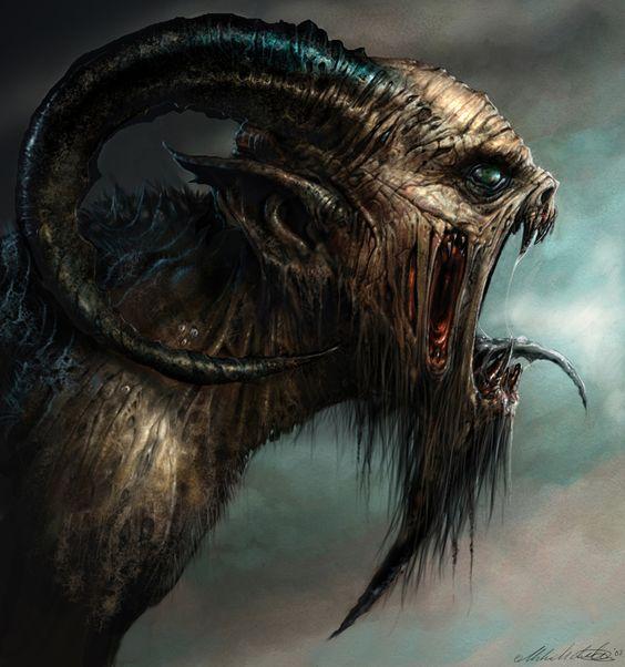 Demon of the Legion, possessor of souls. Scream/Cri, Creature, Fantasy, Imaginary, Destruction, Darkness/Sombre, Anguish/Angoisse.