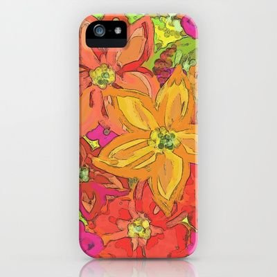 Autumn Floral iPhone & iPod Case by Lisa Argyropoulos - $35.00