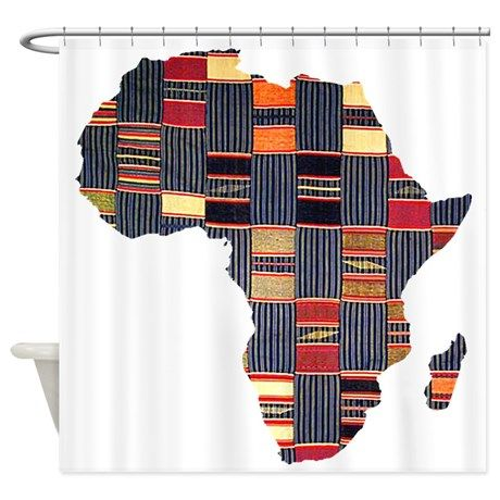Woman African Beauty and Bamboo Shower Curtain   African beauty ...