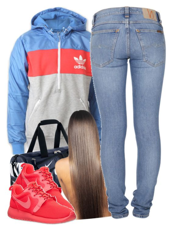 """""""11/20/15"""" by clickk-mee ❤ liked on Polyvore featuring adidas, NIKE and Nudie Jeans Co."""