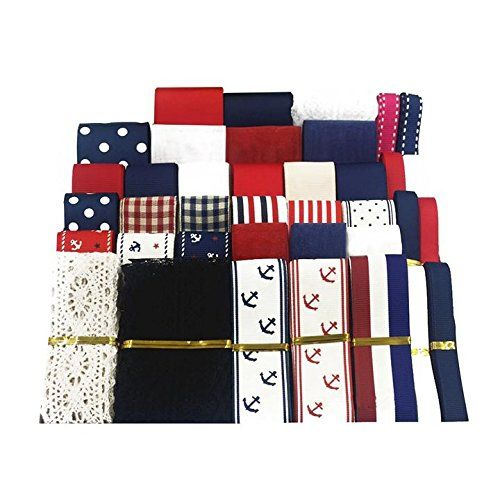 39pcs XUKE 39yd Naval Academy Style Decoration Ribbon >>> Details can be found by clicking on the image.