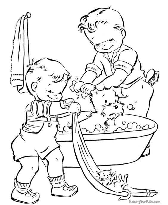 l bath time coloring pages - photo #42