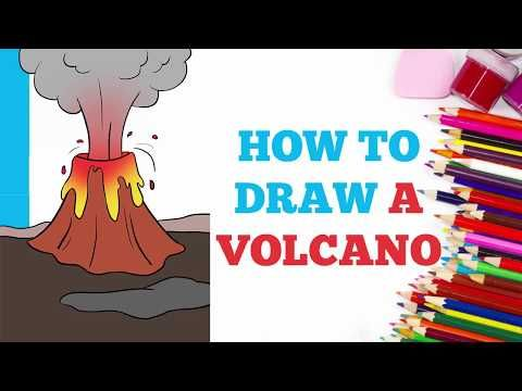 How To Draw A Volcano Really Easy Drawing Tutorial Drawing Tutorial Easy Flower Drawing Tutorials Drawing Tutorial